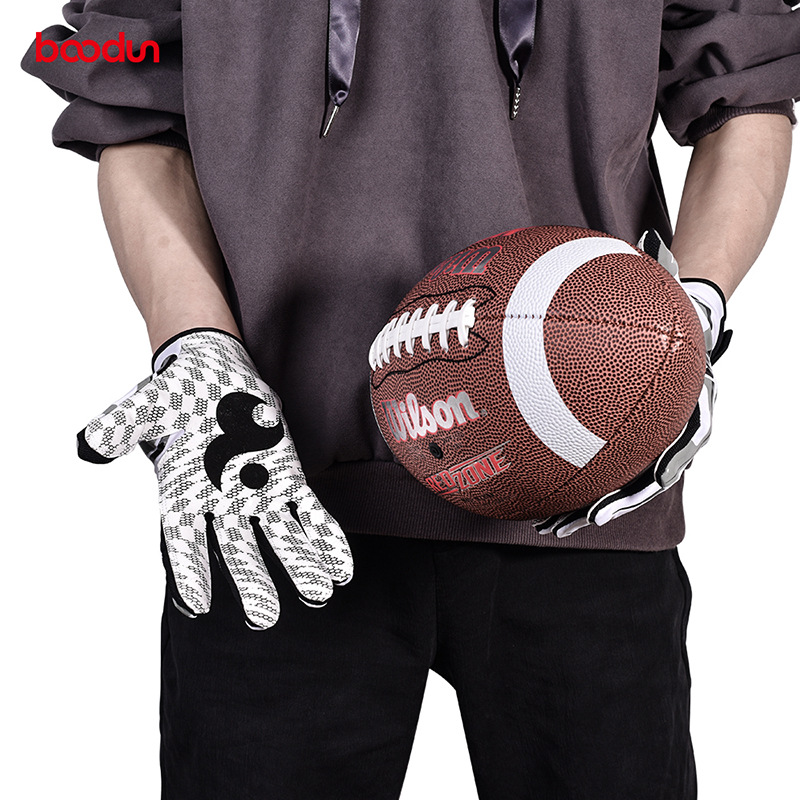 Boodun American-Style Football Gloves Outdoor Silica Gel Anti-slip Catch Men And Women Sport Gloves image