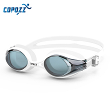 COPOZZ Professional Waterproof Swimming Goggles Adult Double Anti-fog Water Swim Glasses Men Women eyewear Swim Goggle with case
