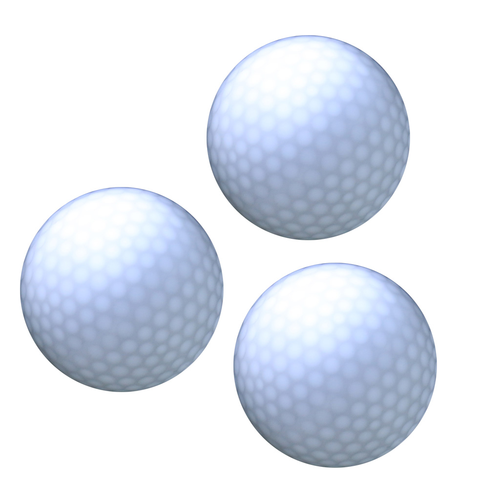 3 Pieces Glow In Dark LED Light Up Golf Ball Official Size Weight