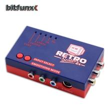 Bitfunx RetroScaler2x A/V HDMI ConverterและLine DoublerสำหรับRetroเกมคอนโซลPS2/N64/NES/SEGA Dreamcast/Saturn/MD1/MD2