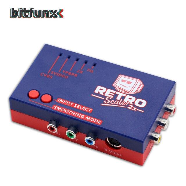Bitfunx RetroScaler2x A/V כדי HDMI ממיר וקו מכפיל עבור רטרו משחק קונסולות PS2/N64/NES/SEGA Dreamcast/שבתאי/MD1/MD2
