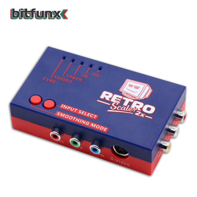 Bitfunx RetroScaler2x a/にhdmiコンバータラインダブラーのためゲームコンソールPS2/N64/ファミコン/セガドリームキャスト/サターン/MD1/MD2
