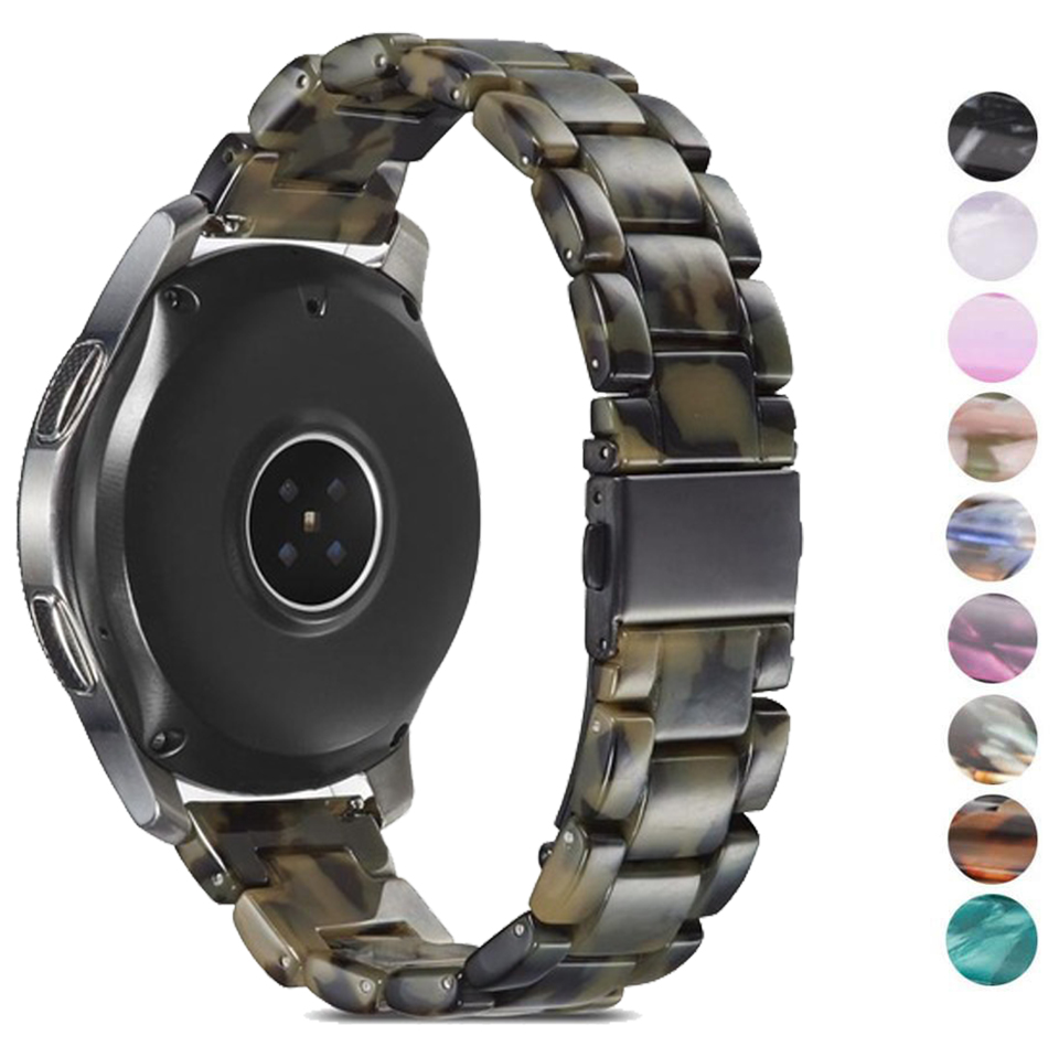 20mm 22mm Resin Watch Strap For Samsung Galaxy Gear S3 Band Strap Correa Stainless Steel Buckle Galaxy 46mm Huawei Gt  Watchband