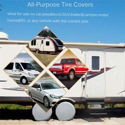 2 sztuk do ciężarówki przyczepa campingowa samochodu pokrowiec na opony koła ochronna wodoodporna okłady w Akcesoria do opon od Samochody i motocykle na