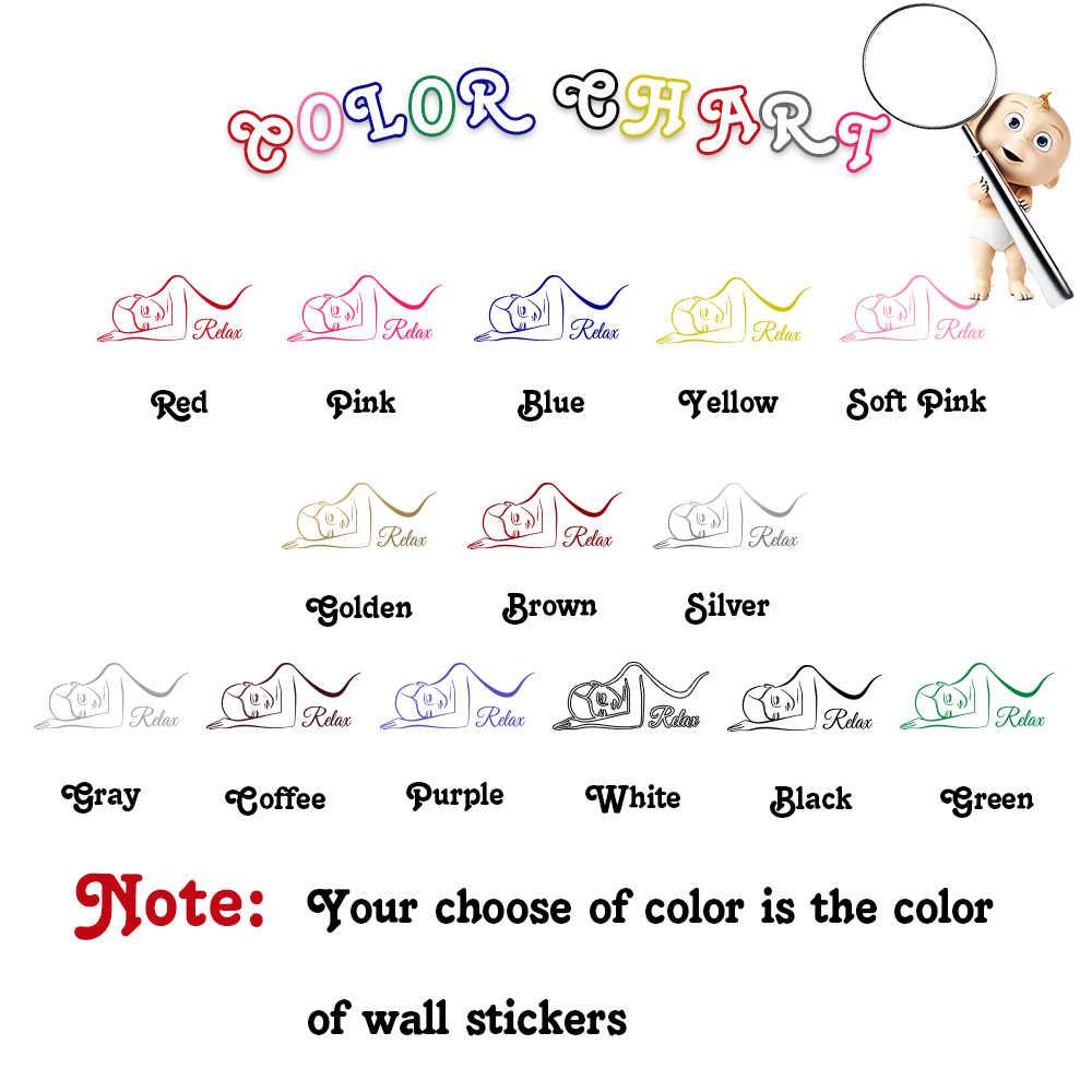 Pretty Spa Relax Wall Sticker Voor Schoonheidssalon Decoratie Stickers Muurstickers Voor Vrouw Slaapkamer Behang Muur Decor Muurschildering
