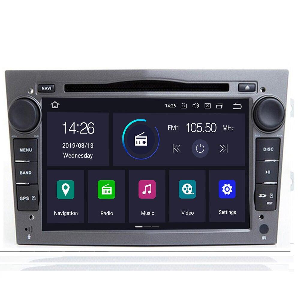 GPS voiture IPS DSP 4 go Android 10 2 DIN pour opel Vauxhall Astra H G J Vectra Antara Zafira Corsa Vivaro Meriva Veda lecteur DVD