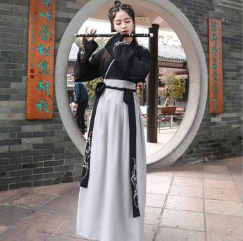 Black Hanfu Dress Chinese Dance Costume Traditional Performance Clothing Han Dynasty Outfit Stage Performance chinese traditional fairy costume ancient han dynasty princess clothing national hanfu outfit stage dress cosplay costume