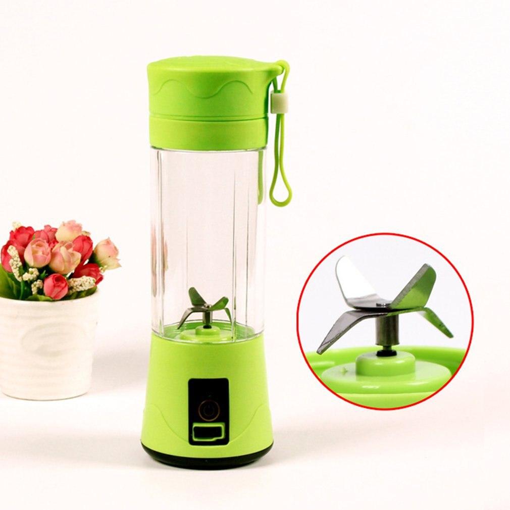 Ev Aletleri'ten Sıkacaklar'de Elektrikli suyu karıştırma kupası profesyonel 4 bıçakları Mini sıkacağı taşınabilir çok fonksiyonlu Usb şarj meyve suyu fincanı meyve title=