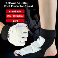 2020 WTF Approve Taekwondo Palm Foot Protector Guard Karate Hand Foot Gloves guard Kickboxing boot Palm Ankle protect Suit Gear