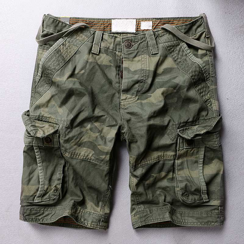 Trendy Camouflage Cargo Shorts Men Causl Military Style Cotton Board Shorts Loose Baggy Short With Multi Pocket Man Clothes