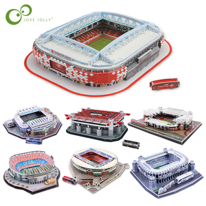 DIY 3D Puzzle Jigsaw World Football Stadium European Soccer Playground Assembled Building Model Puzzle Toys for Children GYH(China)