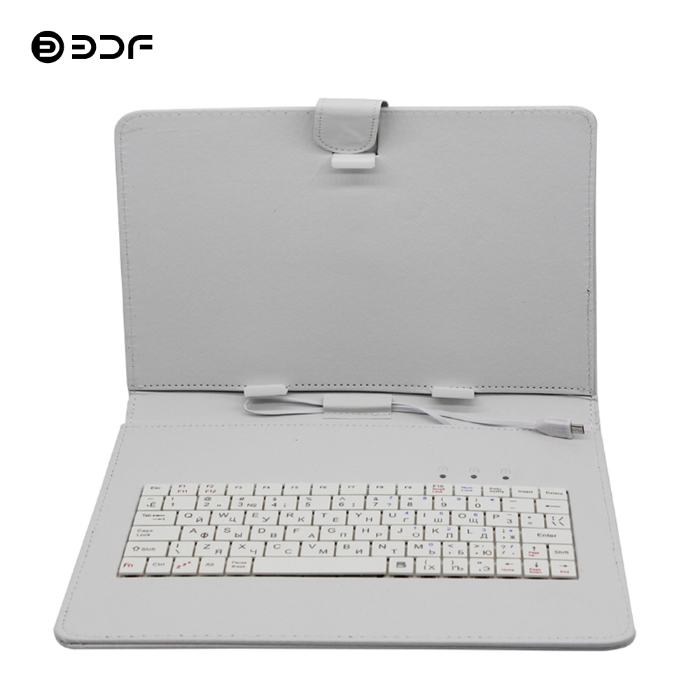 10 Inch And 10.1 Inch Keyboard Leather Cover Case Solid Protective Shell With Keyboard Russian Keyboard For Tablet Pc Use BDF