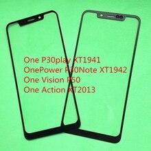 10Pcs LCD di Ricambio Anteriore Touch Screen Obiettivo di Vetro Esterno Per Motorola Moto di Un/Una Potenza/Una Visione p50 Una Sola Azione XT2013