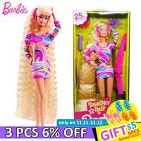 Barbie original 25th aniversário coleção edição boneca brinquedo meninas presente de aniversário menina brinquedos presente bonecas brinquedos presente