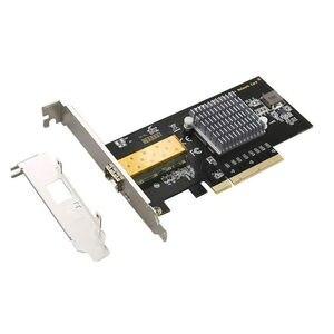 새로운 10Gbps pcie Lan 카드 PCI 익스프레스 슬롯 네트워크 어댑터 10G 기가비트 인텔 82599 칩셋