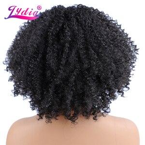 Image 3 - Lydia perruque Afro bouclée crépue U Part synthétique, 16 pouces, couleur naturelle, densité 130, résistante à la chaleur, pour femmes
