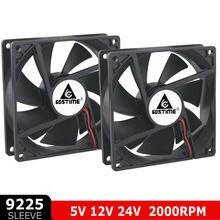 2 uds 80mm 80 92mm ventilador DC 5V 12V 24V 2 Pin 92x92x25mm 9cm 90mm PC enfriador de los ventiladores de refrigeración