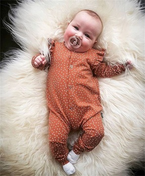 0-18M Baby Girl Clothes Newborn Polka Dots Romper Long Sleeve Floral Jumpsuit Playsuit Outfit Clothes цена 2017
