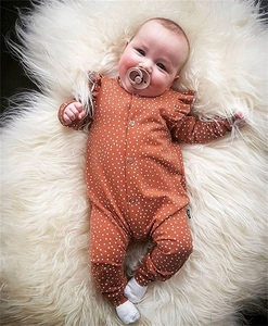 0-18M Baby Girl Clothes Newborn Polka Dots Romper Long Sleeve Floral Jumpsuit Playsuit Outfit Clothes