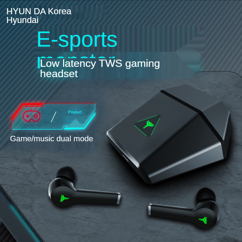 Gaming Bluetooth Earphones Wireless Headphones TWS Stereo In Ear Dual Mode e...