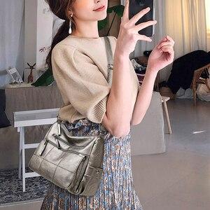 Image 5 - 2019 高級糸ハンドバッグ女性バッグデザイナーソフト女性のクロスボディメッセンジャーバッグ女性ヴィンテージショルダーバッグ