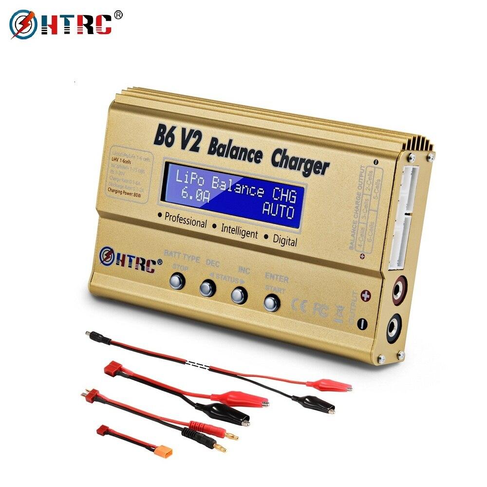 HTRC iMax B6 V2 LiPo зарядное устройство 80 Вт светодиодный баланс Dis зарядное устройство для Lipo Li Ion LiFe NiCd NiMH LiHV PB Зарядное устройствоДетали и аксессуары   -