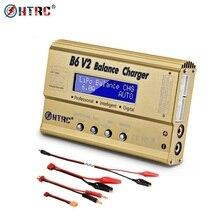 HTRC iMax B6 V2 LiPo şarj cihazı 80W LED denge boşaltmalar Lipo Li ion LiFe NiCd NiMH LiHV PB pil şarj dengeleyici