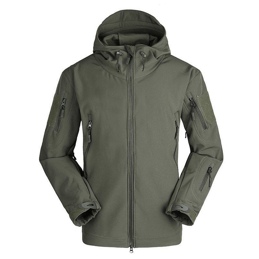 Breathable Men Outdoor Military Tactical Jacket Waterproof Windproof Keep Warm Long Sleeve Hooded Warm Outwear Coat