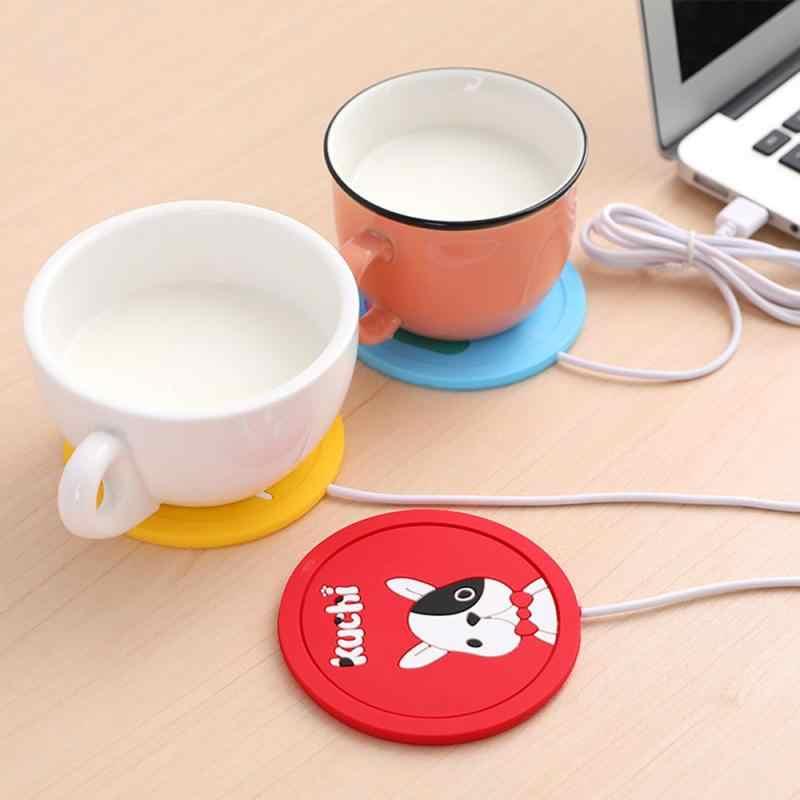 Usb Cartoon Warmte Warmer Heater Melk Koffie Mok Warme Dranken Drank Cup Warmer Thermostatische Coaster Verwarming Coaster