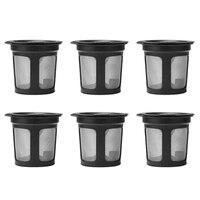 Cápsula de filtro de café recargable reutilizable de 6 piezas para la cafetera Keurig K50 y K55 Filtros de café     -