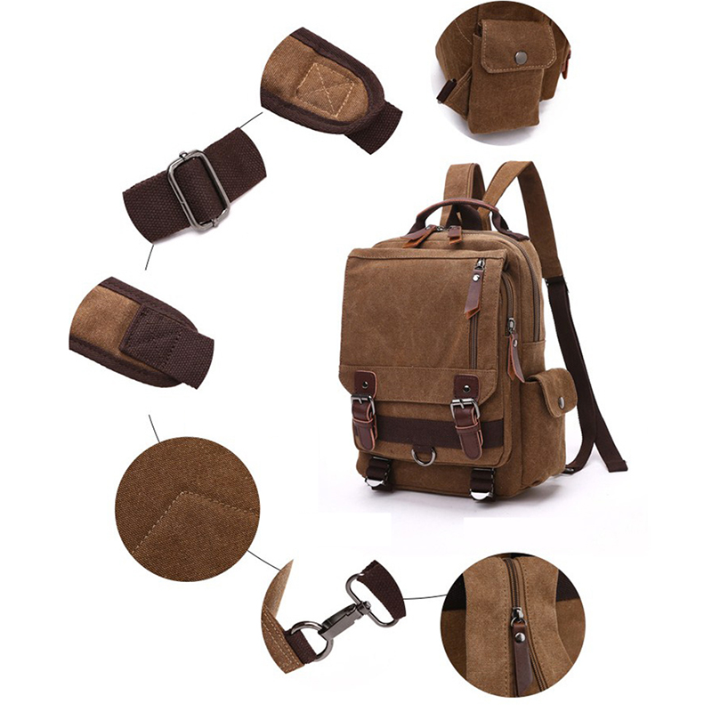 Canvas Multifunctional Backpack 36