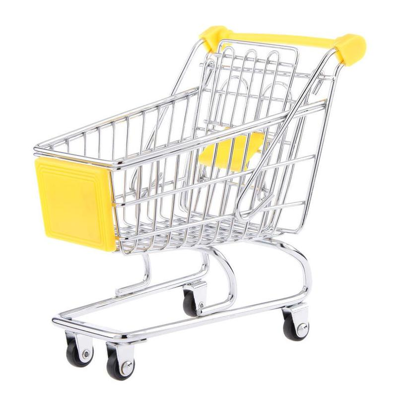 Small Shopping Cart Toys Trolley Decoration Accessories Children Wonderful Holiday Gift Small Cute Car Toy