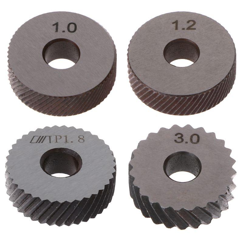 2pcs Diagonal Linear Knurl Wheels Knurling Knurler Tool 1.0/1.2/1.8/3.0mm Pitch P82C