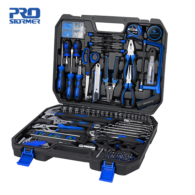 PROSTORMER 210 Pcs Ratchet Wrench Hand Tools Set Combination Socket Adapter Kit Spanner Set General Household Wrench Set Tool 1