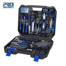Prostormer kit de ferramentas manuais, 210 peças, chave de catraca, conjunto de combinação, adaptador de soquete, chave inglesa, conjunto de ferramentas domésticas em geral