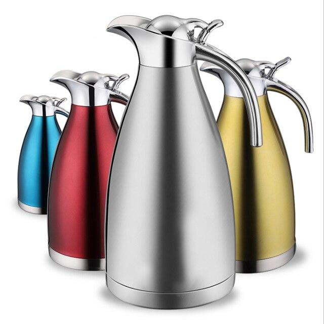 1.5L 2L 二重壁のステンレス鋼魔法瓶ポットコーヒー茶熱絶縁水ボトル水差し