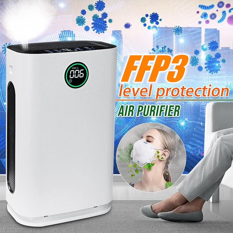 AUGIENB Air Purifier Fresh Ozone Large Air Cleaner HEPA Filter Allergies Eliminator Negative Ion For PM2.5 Dust Pollen Pet Hair