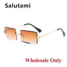 Wholesale Rimless Alloy Square Sunglasses For Women New Fash