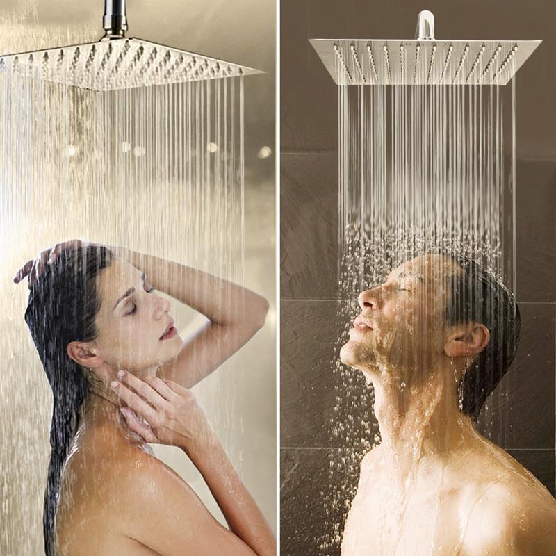 Cromo-ducha-grifo-sola-manija-de-acero-inoxidable-12-Lluvia-de-ducha-con-ducha-de-mano
