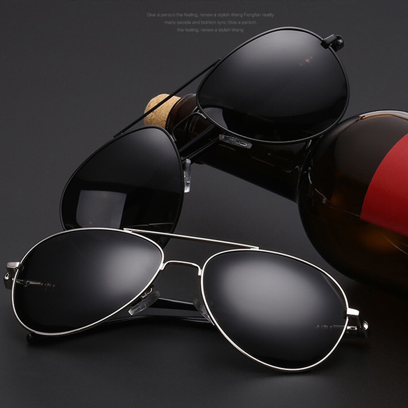 Homens Do Vintage Polarizada Óculos De Sol Clássicos óculos de Sol Da Marca Lente Revestimento de Alumínio Condução Tons Para Homens/Mulheres