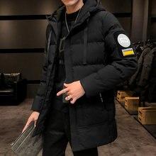 Warme Winter Herren Jacke Mantel Mit Kapuze Dicke Baumwolle Jacke Herren Parkas Mäntel Männlichen Mode Herren Kleidung Casual Zipper Herren Kleidung
