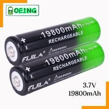 2021 nuevo 1 ~ 10 Uds 18650 batería 3,7V 19800 mAh batera recargable de Li-Ion para linterna LED Caliente Nueva de Alta Calidad