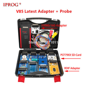 Newest V85 Iprog+ Pro with Probe Adapters For in-circuit ECU Programmer & Mileage Correction + Airbag Reset +IMMO+EEPROM