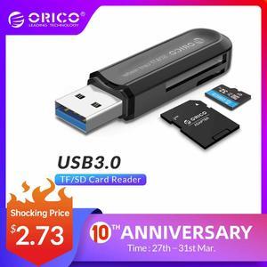 ORICO Card Reader USB 3.0 SD/Micro SD TF Memory Card Adapter for Macbook Pro Samsung Laptop USB3.0 Cardreader SD Card Reader