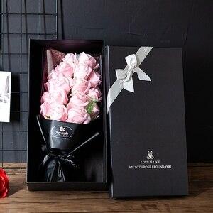 Красочное мыло роза цветок натуральное консервированное розовое мыло в подарочной коробке Подарок на годовщину День Рождения Декор аксесс...