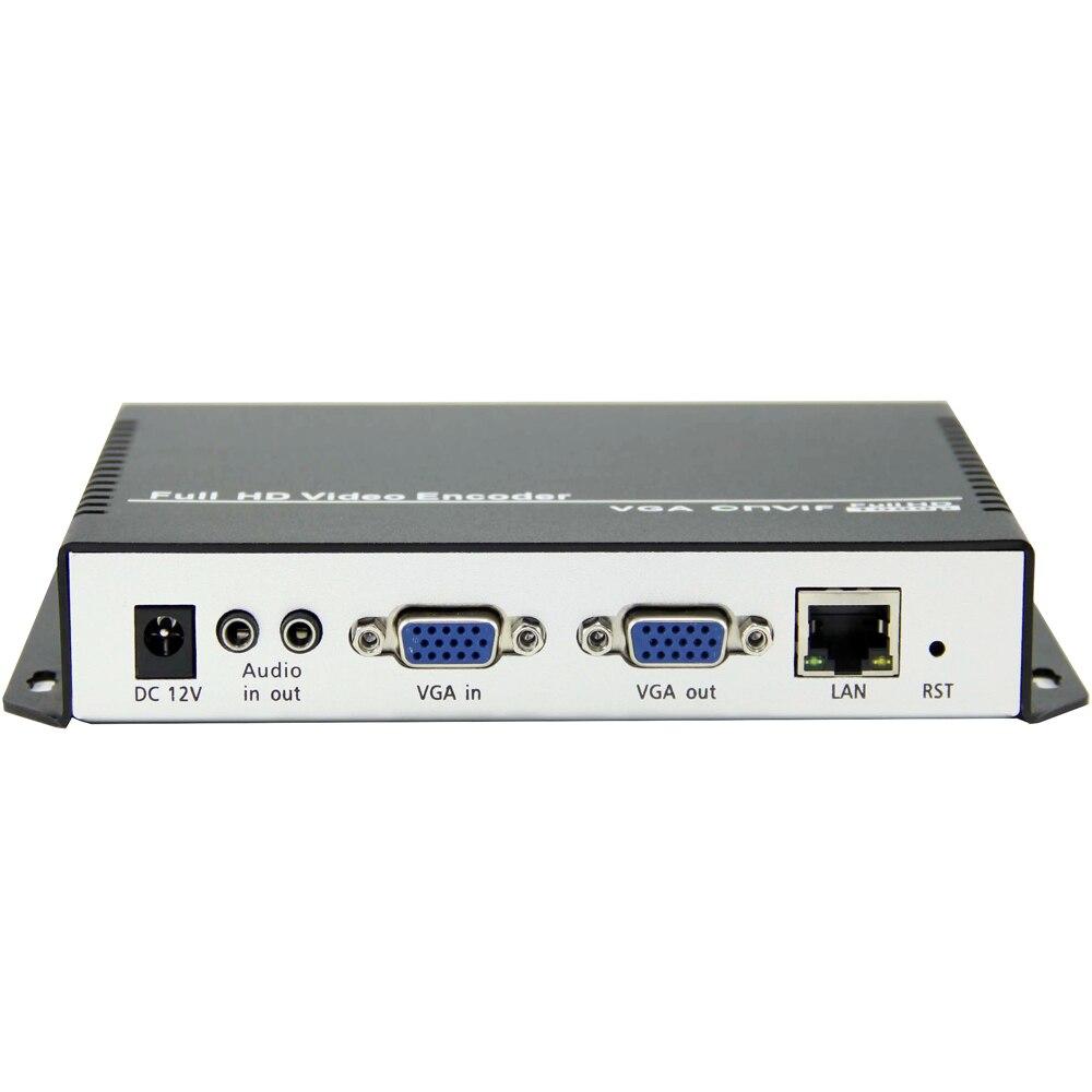 MPEG-4 H.264/AVC VGA+ стерео аудио потоковое IP кодировщик аппаратное обеспечение Видео Аудио передатчик для прямой передачи, RTMP сервер