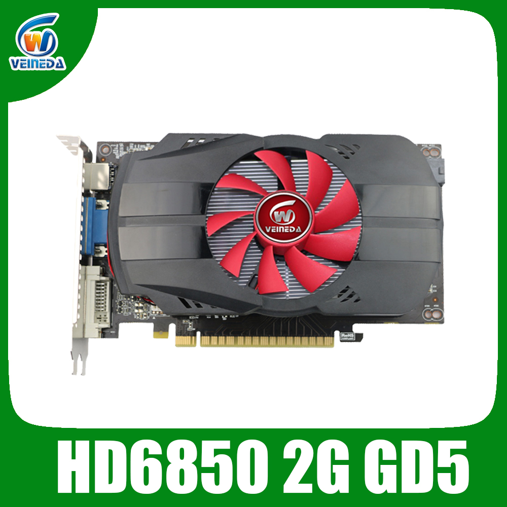 Graphic Card HD6850 2GB GDDR5 256Bit Game Video Card HDMI VGA DVI For ATI Radeon InstantKill GTX650,GT730