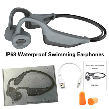 Swimming Bone Conduction Bluetooth Headphones 16GB MP3 Music Player Earphones Waterproof IPX8 Headsets Kids Men Women Earphone