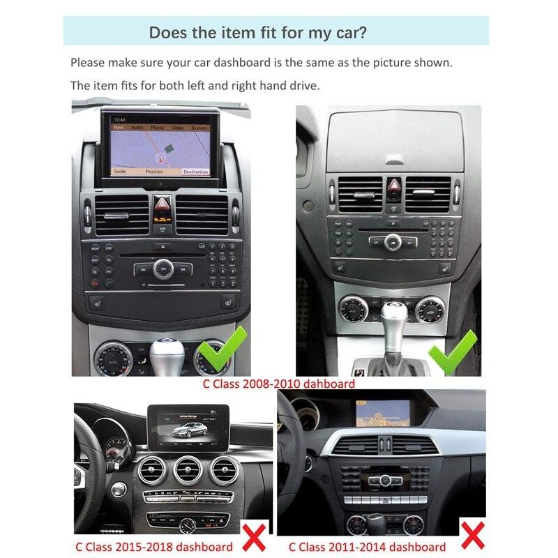 Écran de presse de Navigation de voiture de 10.25 pouces pour Mercedes Benz CLK classe W204 S204 C207 A209 2008 à 2010 Blu-Ray écran GPS voiture Navig - 5