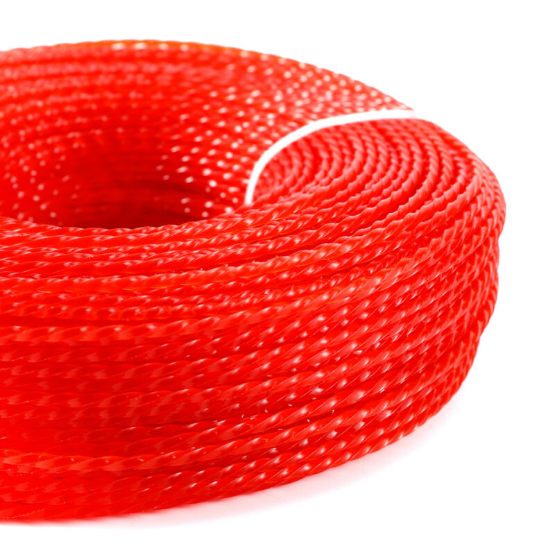2.4mm*100m Red Nylon Line Wire String For Brush Cutter Strimmer Trimmer Replace